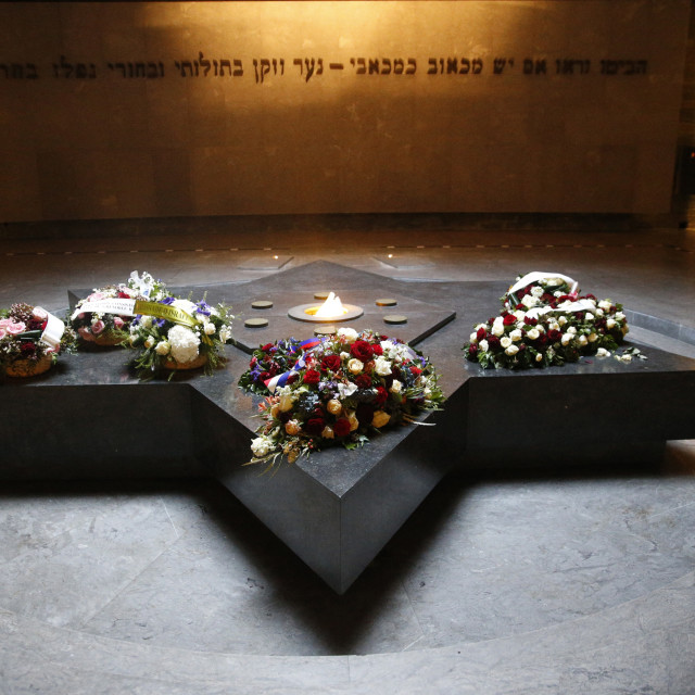 """The Crypt, The Shoah Memorial, Paris, France, Europe"" stock image"