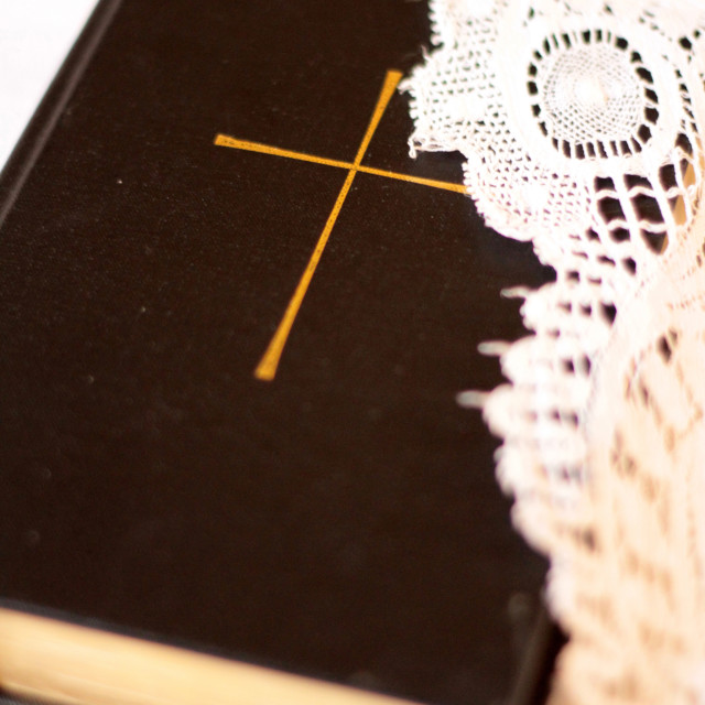 """Bible, Cordon, Haute-Savoie, France, Europe"" stock image"