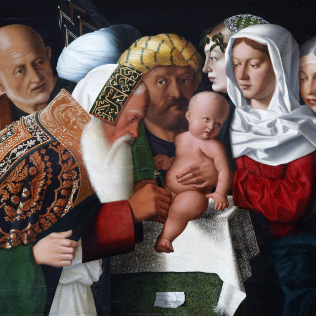 """The Circumcision by Bartolomeo Veneto, painted 1506, Pais, France, Europe"" stock image"