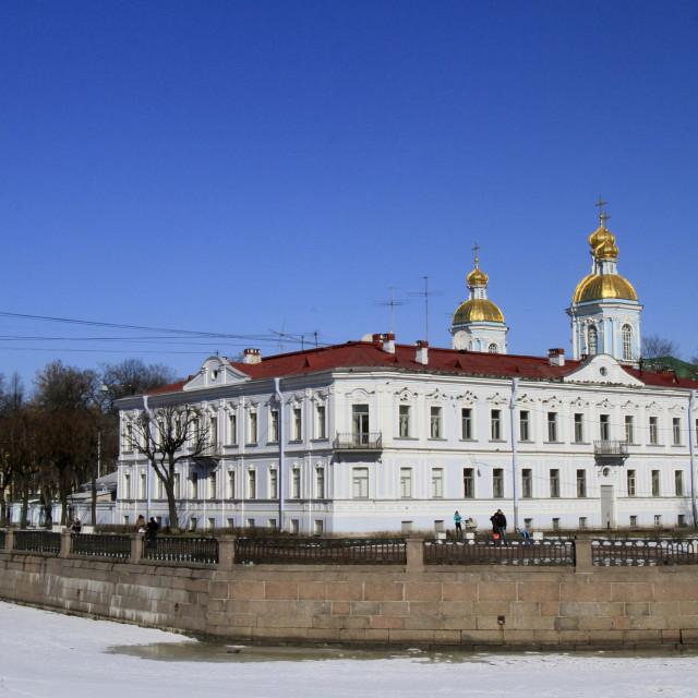 """Russian Orthodox Church, St. Peterburg, Russia, Europe"" stock image"