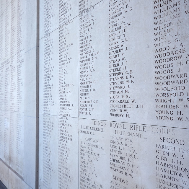 """""""The Menin Gate Memorial to the Missing"""" stock image"""