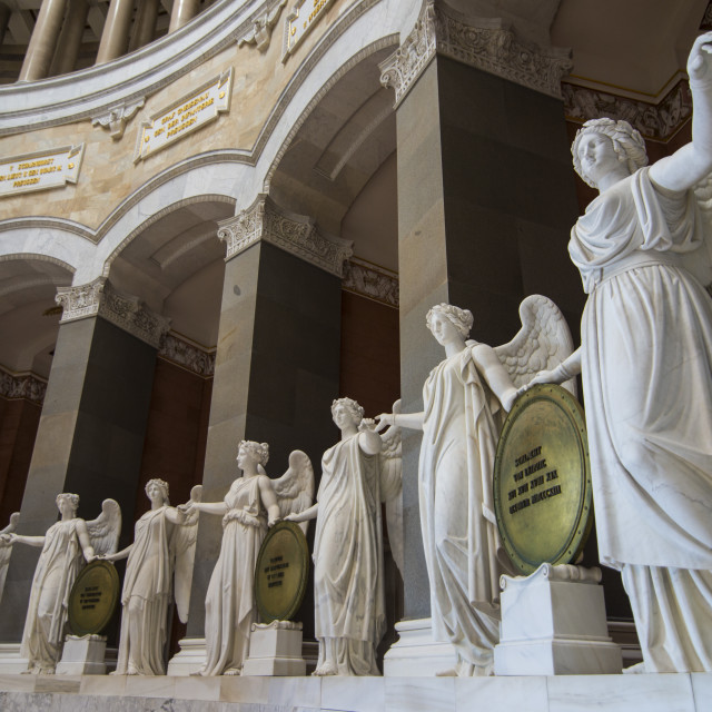 """""""Statues in the Befreiungshalle (Hall of Liberation) upon Mount Michelsberg..."""" stock image"""