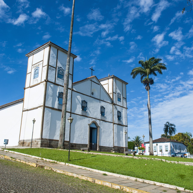"""Matrix Church of Our Lady of the Rosary, Pirenopolis, Goais, Brazil, South..."" stock image"