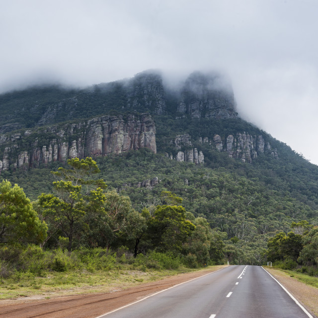 """Road leading to the Grampians National Park, Victoria, Australia, Pacific"" stock image"