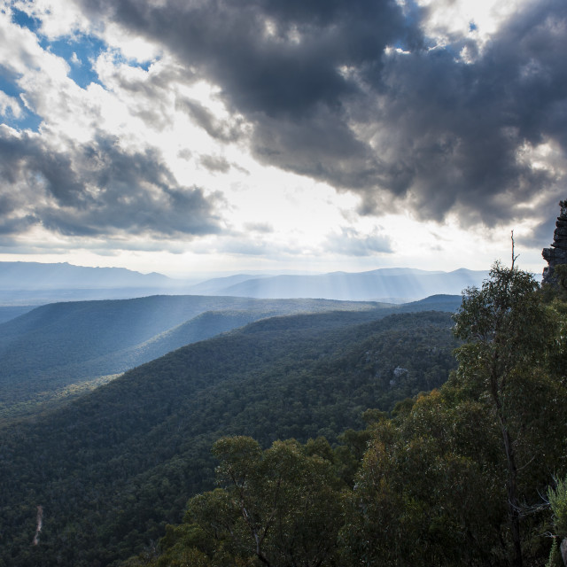 """View over the Grampians National Park, Victoria, Australia, Pacific"" stock image"