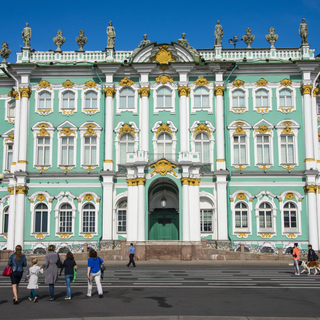 """The Hermitage (Winter Palace), UNESCO World Heritage Site, St. Petersburg,..."" stock image"