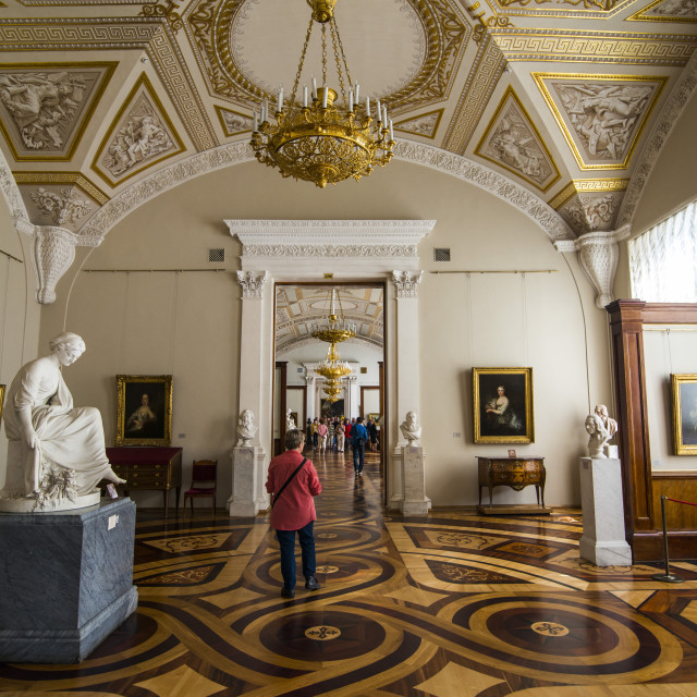 """Inside the Hermitage (Winter Palace), UNESCO World Heritage Site, St...."" stock image"
