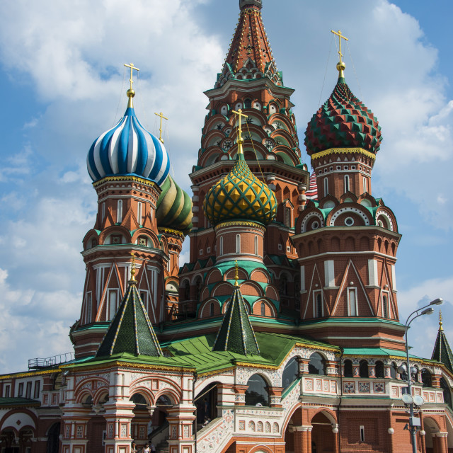 """""""St. Basil's Cathedral on Red Square, UNESCO World Heritage Site, Moscow,..."""" stock image"""