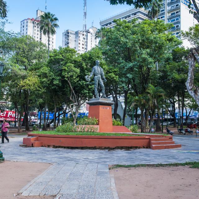 """Uruguay Square in Asuncion, Paraguay, South America"" stock image"
