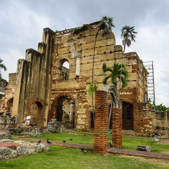 """Ruins of the hospital of San Nicolas de Bari, Old Town, UNESCO World Heritage..."" stock image"