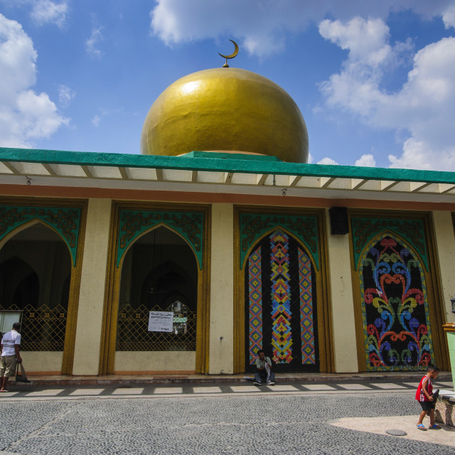 """Golden Mosque, Manila, Luzon, Philippines, Southeast Asia, Asia"" stock image"
