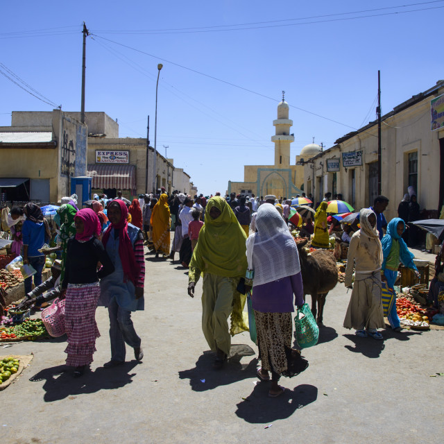 """Market in Adi Keyh, Eritrea, Africa"" stock image"