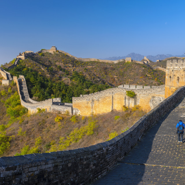 """Great Wall of China, UNESCO World Heritage Site, dating from the Ming..."" stock image"