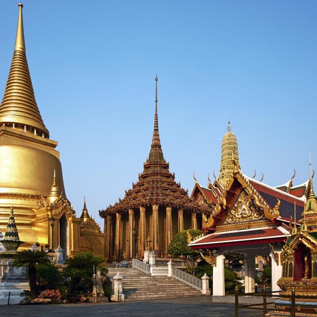 """Wat Phra Kaew inside the Royal Palace, Bangkok, Thailand, Southeast Asia, Asia"" stock image"