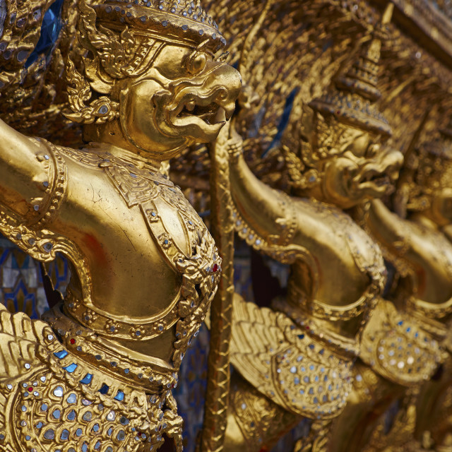 """Wat Phra Kaew inside the Royal Palace, Bangkok, Thailand, Southeast Asia, Asia"" stock image"