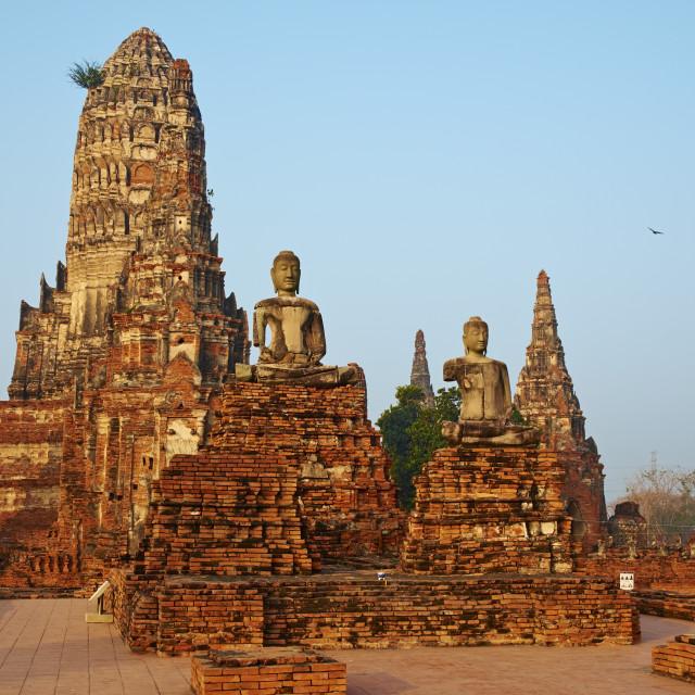 """""""Wat Chai Wattanaram, Ayutthaya Historical Park, UNESCO World Heritage Site,..."""" stock image"""