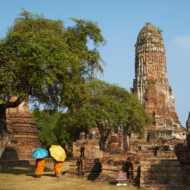 """Wat Phra Ram, Ayutthaya Historical Park, UNESCO World Heritage Site,..."" stock image"