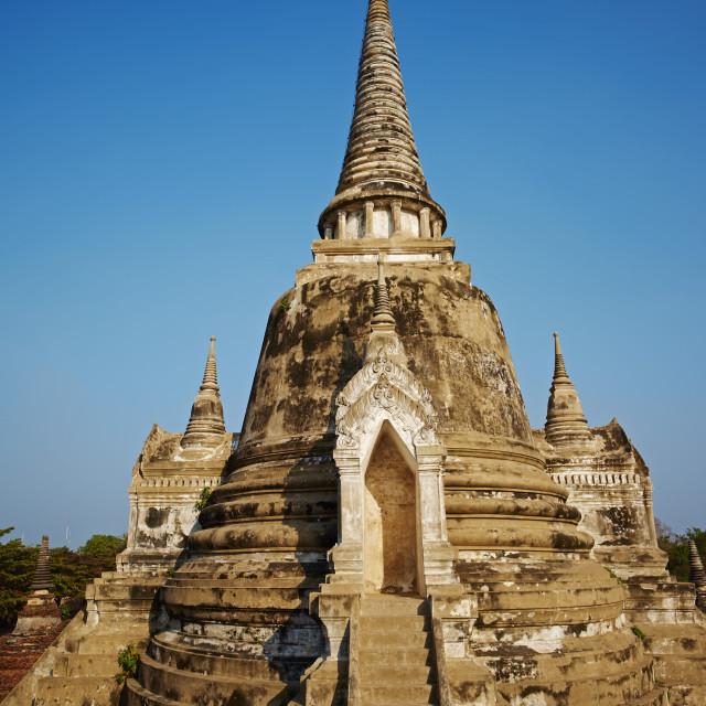 """Wat Phra Si Sanphet, Ayutthaya Historical Park, UNESCO World Heritage Site,..."" stock image"