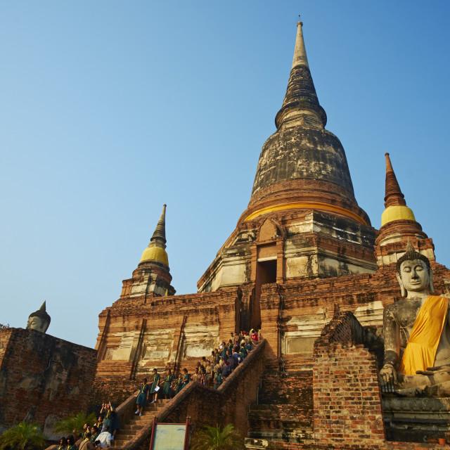 """Wat Yai Chai Mongkhon, Ayutthaya Historical Park, UNESCO World Heritage Site,..."" stock image"