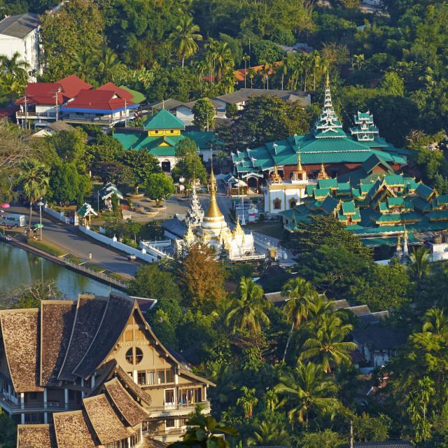"""""""Wat Chong Klang on the Nong Chong Kham, Mae Hong Son, Thailand, Southeast..."""" stock image"""