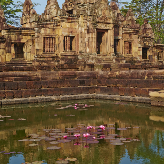 """""""Muang Tham Temple, Khmer temple from period and style of Angkor, Buriram..."""" stock image"""