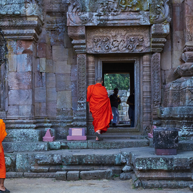 """Phanom Rung Temple, Khmer temple from the Angkor period, Buriram Province,..."" stock image"