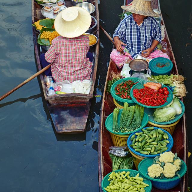 """""""Floating market, Damnoen Saduak, Ratchaburi Province, Thailand, Southeast..."""" stock image"""
