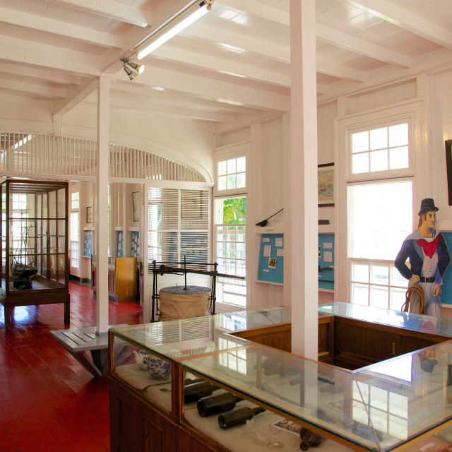 """Interior of Admiral's House and Dockyard Museum, Antigua, Leeward Islands,..."" stock image"