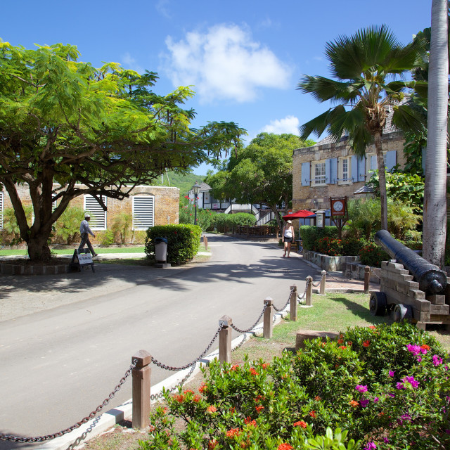 """Nelson's Dockyard, Antigua, Leeward Islands, West Indies, Caribbean, Central..."" stock image"