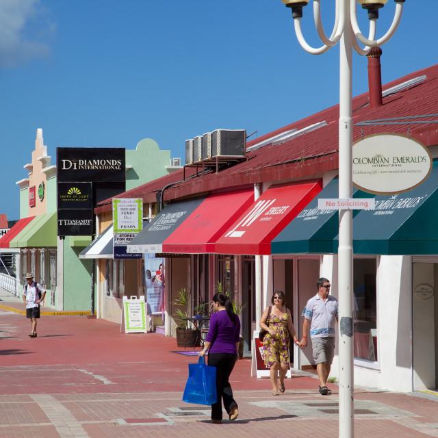 """Heritage Quay, St. Johns, Antigua, Leeward Islands, West Indies, Caribbean,..."" stock image"