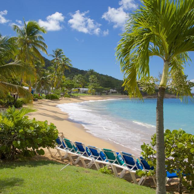 """Hawksbill Bay and Beach, St. Johns, Antigua, Leeward Islands, West Indies,..."" stock image"