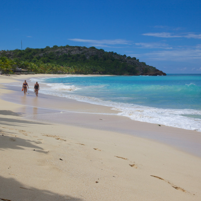 """""""Galley Bay and Beach, St. Johns, Antigua, Leeward Islands, West Indies,..."""" stock image"""