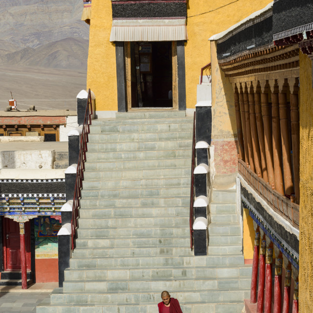 """The 15th century Thiksey Monastery, Ladakh, Himalayas, India, Asia"" stock image"