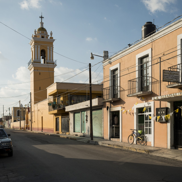 """Cholula, Puebla Province, Mexico, North America"" stock image"