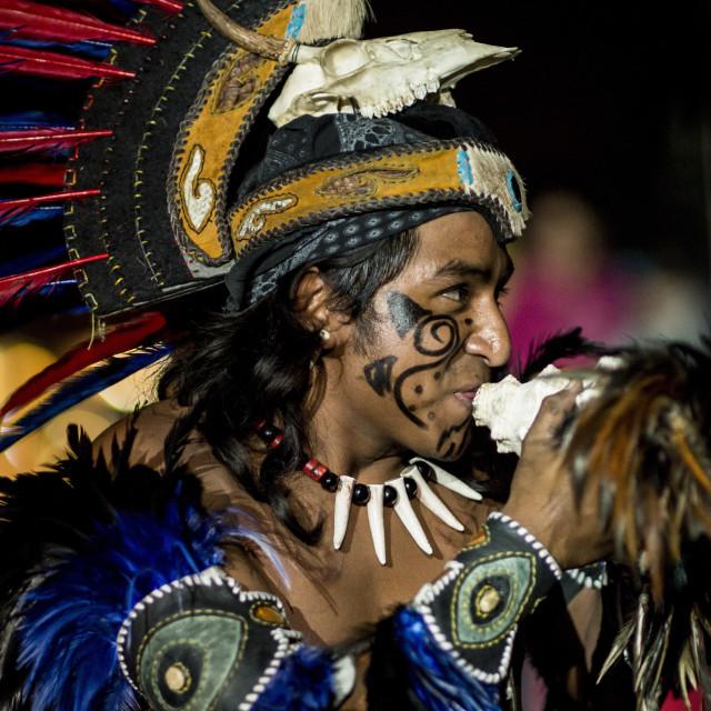 """Encuento Nacional de Danza Mexica Cultural Show, Cholula, Puebla State,..."" stock image"