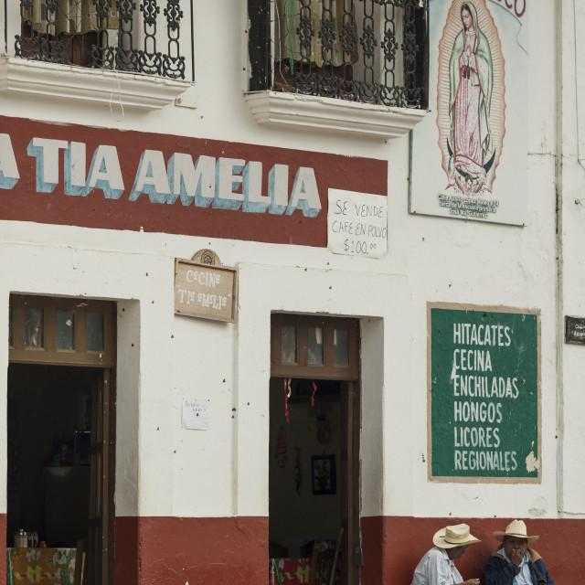 """""""Cuetzalan, Puebla State, Mexico, North America"""" stock image"""