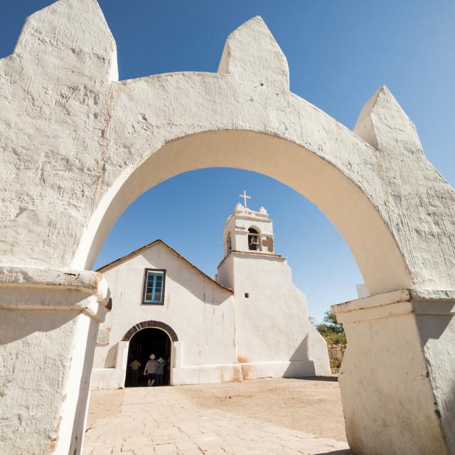 """""""Iglesia de San Pedro, San Pedro de Atacama, Atacama Desert, El Norte Grande,..."""" stock image"""
