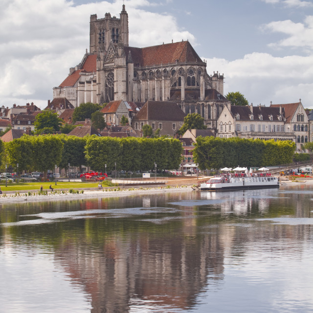 """""""Saint Etienne d'Auxerre cathedral in the city of Auxerre, Burgundy, France,..."""" stock image"""