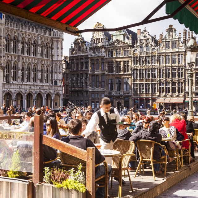 """The Grand Place or Grote Markt is the central square of Brussels."" stock image"