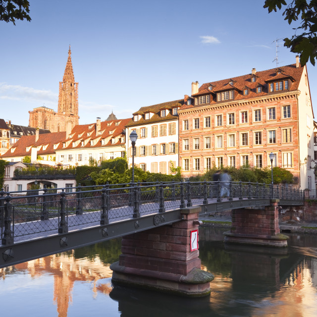 """The River Ill and La Petite France, Strasbourg, Bas-Rhin, Alsace, France, Europe"" stock image"