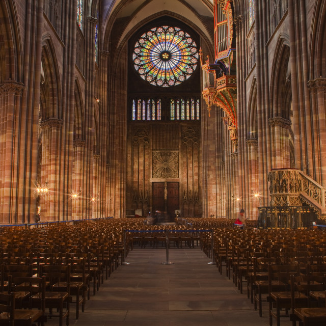 """""""The nave of Strasbourg cathedral, Strasbourg, Bas-Rhin, Alsace, France, Europe"""" stock image"""