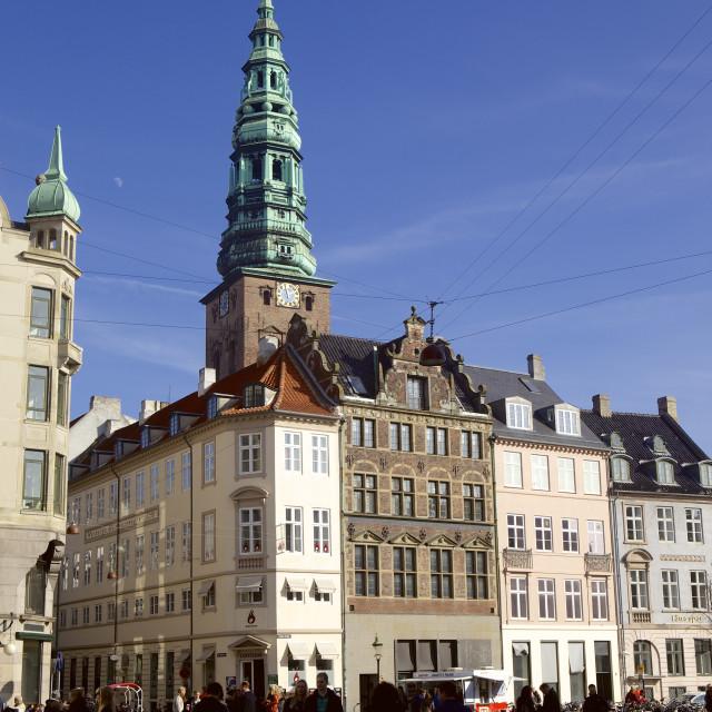 """Nikolaj Kirke (Nikolai Church), Copenhagen, Denmark, Scandinavia, Europe"" stock image"