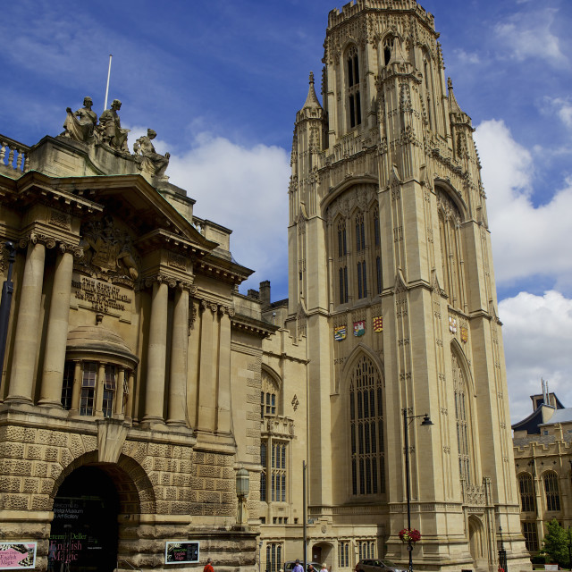 """City Museum & Art Gallery & Wills Memorial building what is part of the..."" stock image"