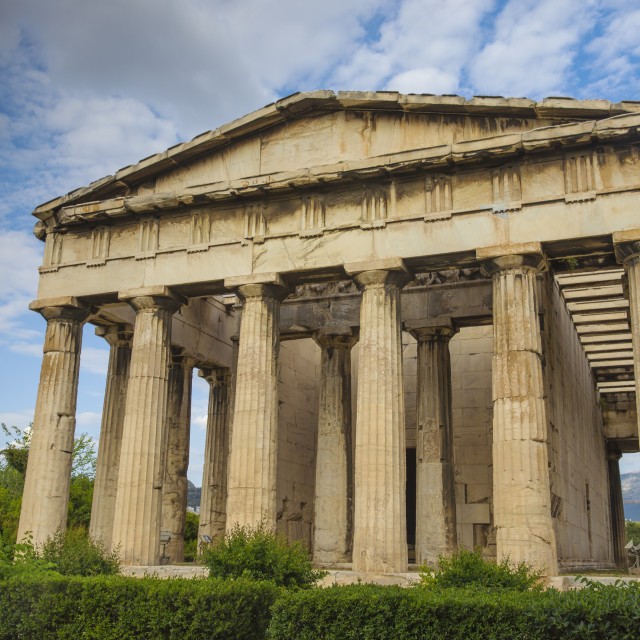 """Greece, Attica, Athens, The Agora, Temple of Hephaestus"" stock image"