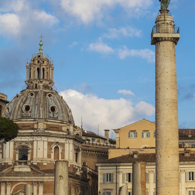"""Italy, Lazio, Rome, Trajan's Column"" stock image"