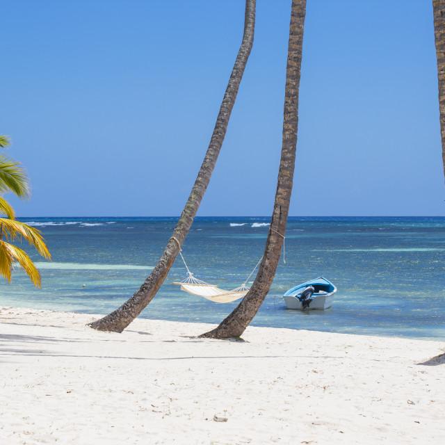 """Dominican Republic, Punta Cana, Parque Nacional del Este, Saona Island, Mano..."" stock image"