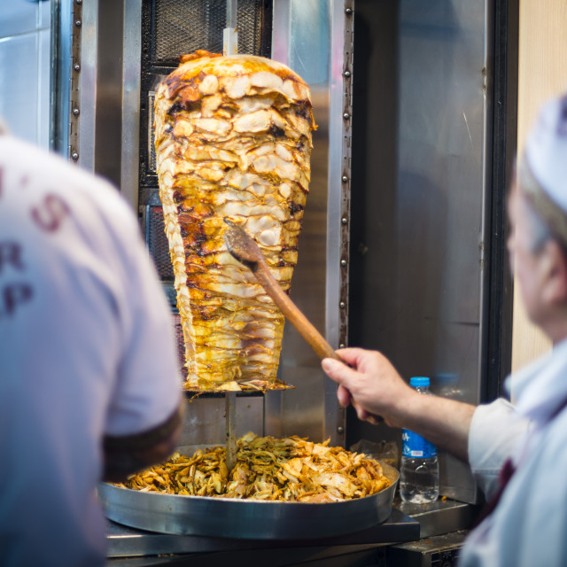 """""""Doner kebab, a typical turkish food in Istanbul, Turkey"""" stock image"""