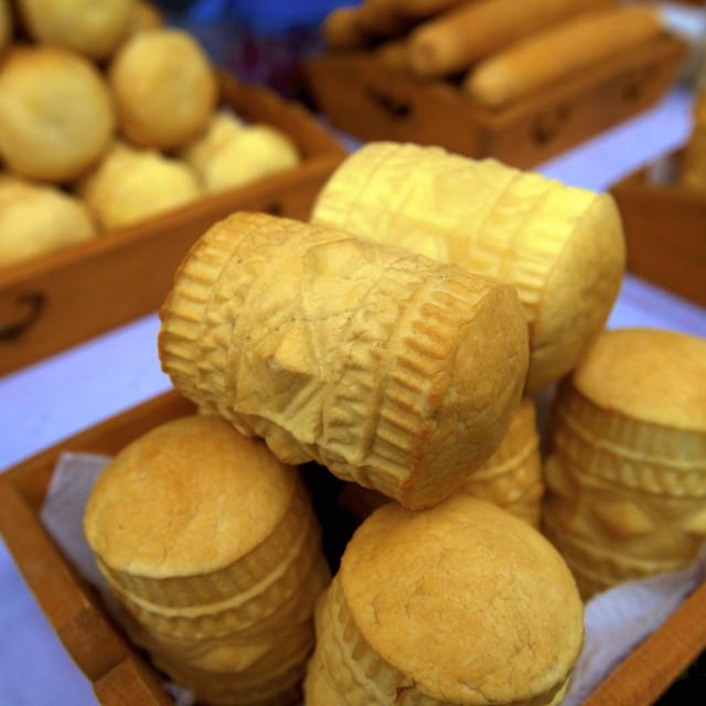 """""""Golka cheese, Krakow (Cracow), Poland, Europe"""" stock image"""