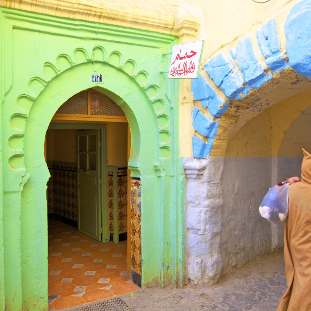 """Hammam in Kasbah, Tangier, Morocco, North Africa, Africa"" stock image"