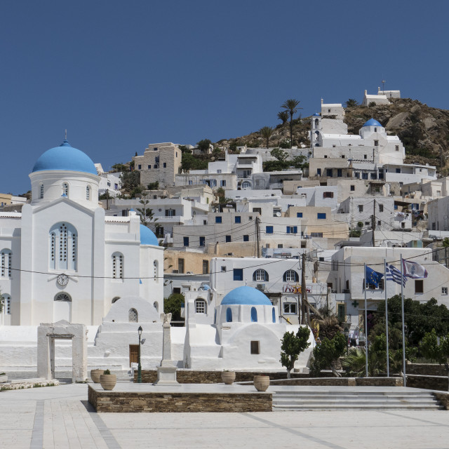 """Chora, Ios, Cyclades, Greece"" stock image"